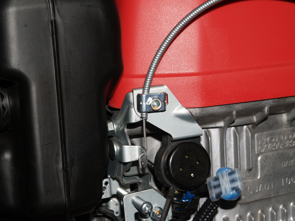 Throttle control after attached