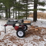 Power Dog horizontal log splitter